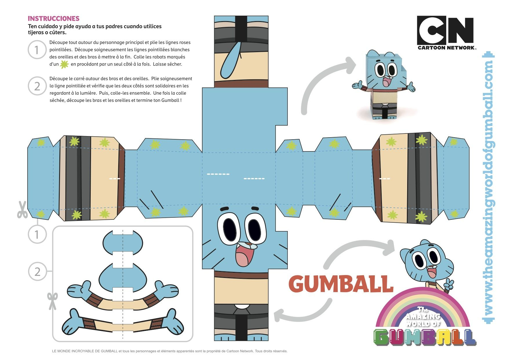Gumball, Paper Toy ! | Brinquedos De Papel, Projetos De dedans Paper Toy Gratuit