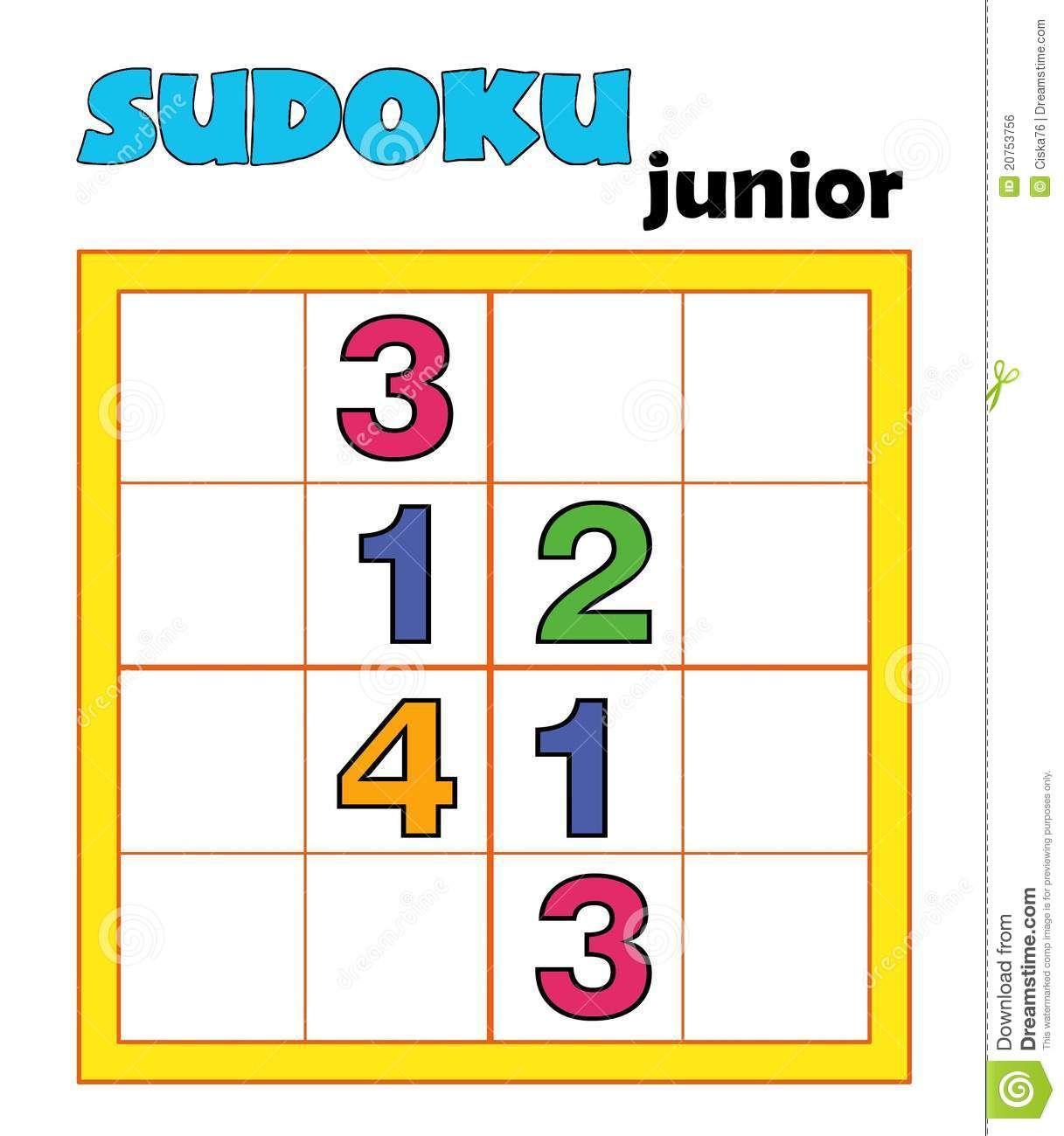 Gunilla Brånn Adlı Kullanıcının Lärare Panosundaki Pin avec Sudoku Junior À Imprimer