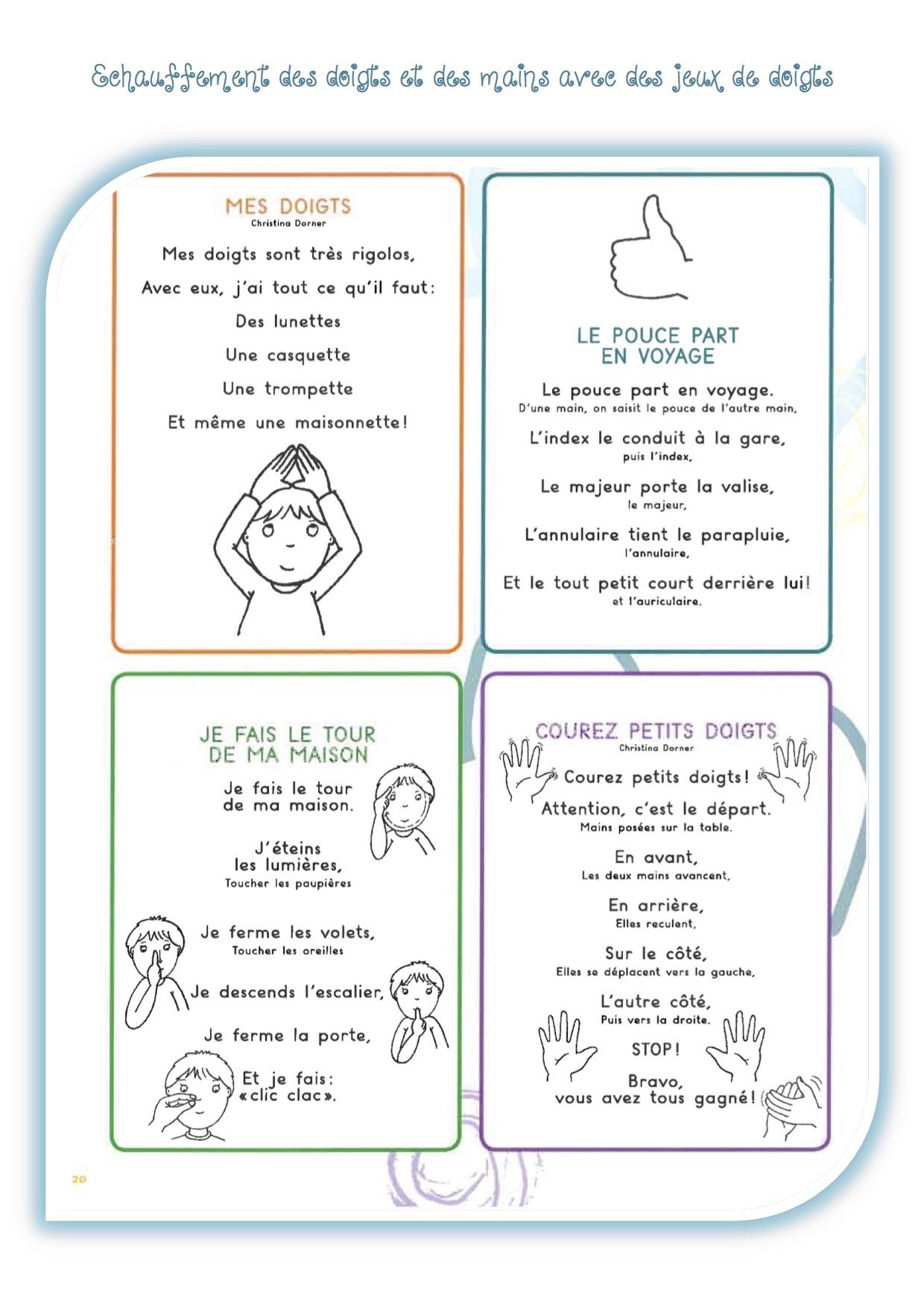 Gym Des Doigts Avant De Commencer Une Activité D'écriture intérieur Petit Jeu Maternelle