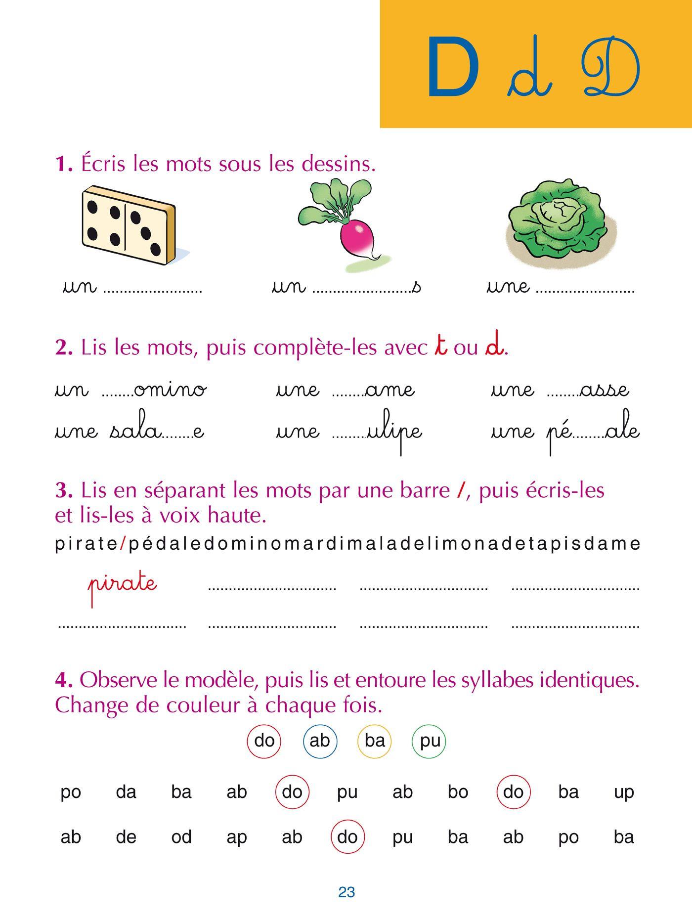 Hachette Education Sami Et Julie Méthode Syllabique Cahier encequiconcerne Jeux Ludique Maternelle