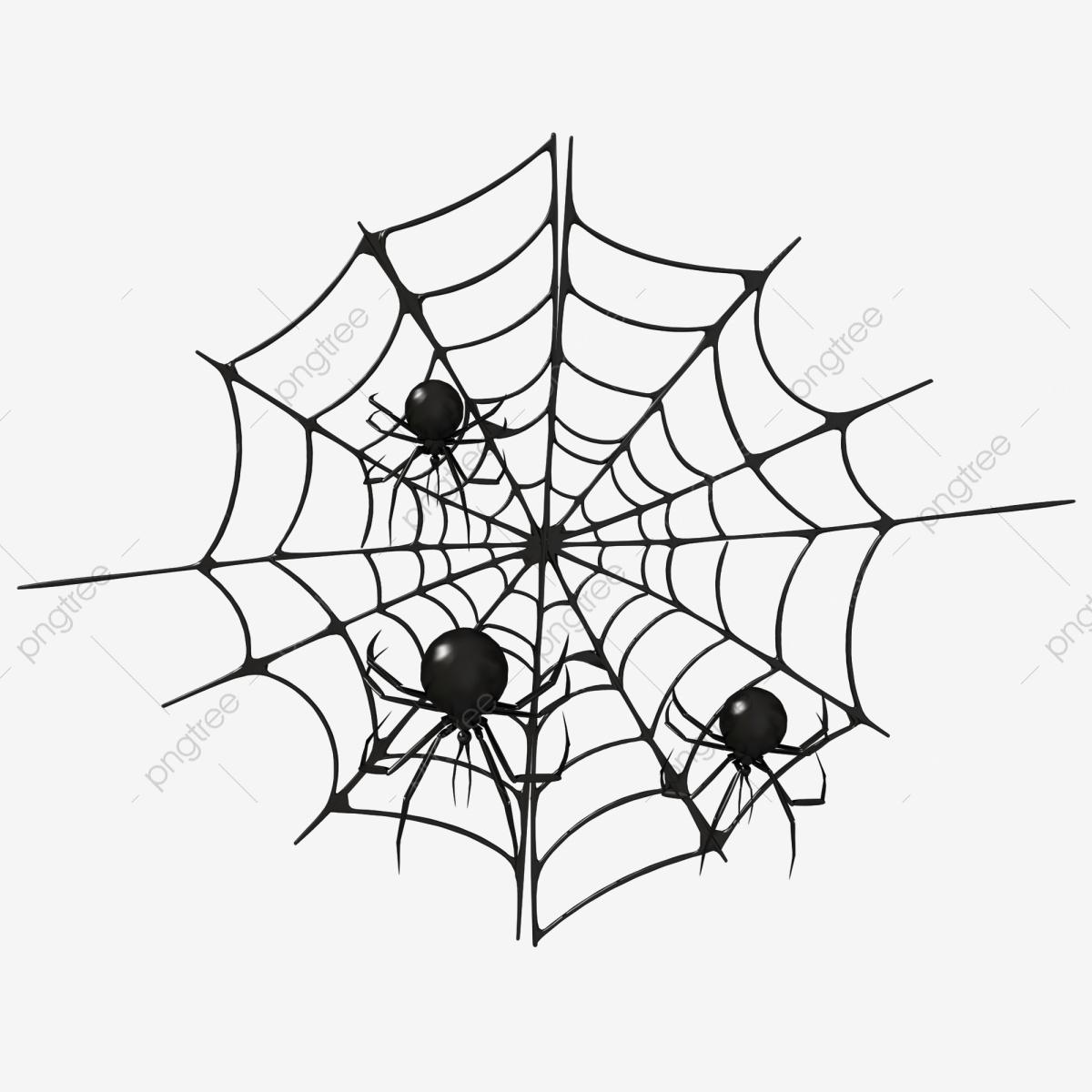 Halloween C4D Dessin Animé Toile Daraignée Noire, Araignée concernant Dessin Toile Araignée