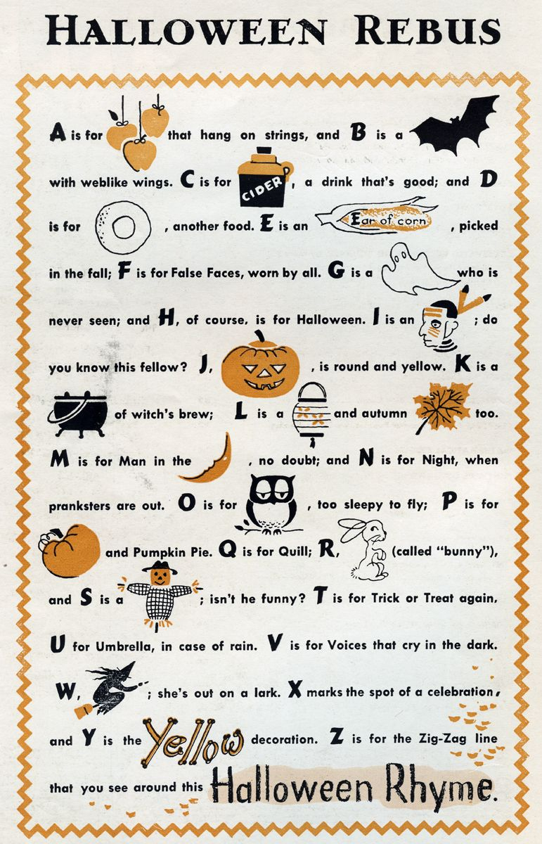 Halloween Rebus | Halloween Poems For Kids, Halloween serapportantà Jeux De Rebus