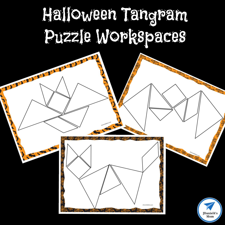 Halloween Themed Printable Tangram Puzzles - Jdaniel4S Mom encequiconcerne Tangram Chat