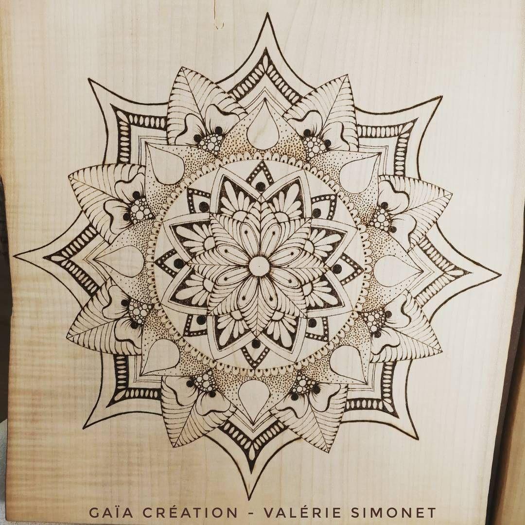 Handmade #faitmain #pyrogravure #pyrography serapportantà Dessiner Un Mandala