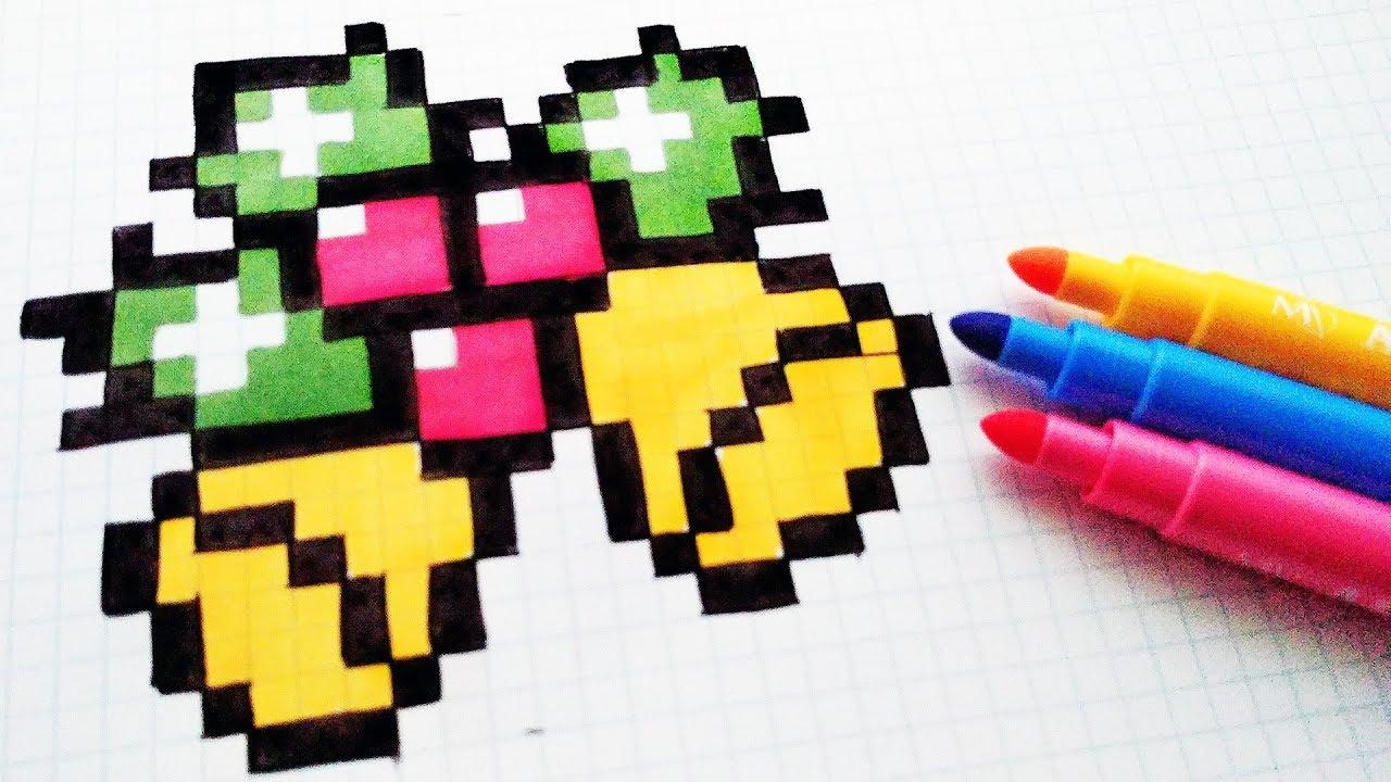 Handmade Pixel Art - How To Draw A Christmas Bells #pixelart intérieur Pixel Art De Noël