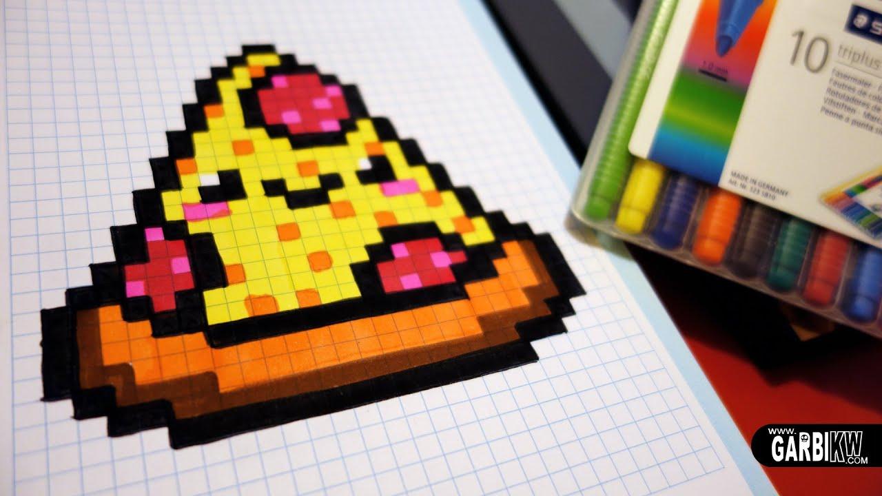 Handmade Pixel Art - How To Draw A Kawaii Pizza By Garbi Kw #pixelart serapportantà Modele Dessin Pixel