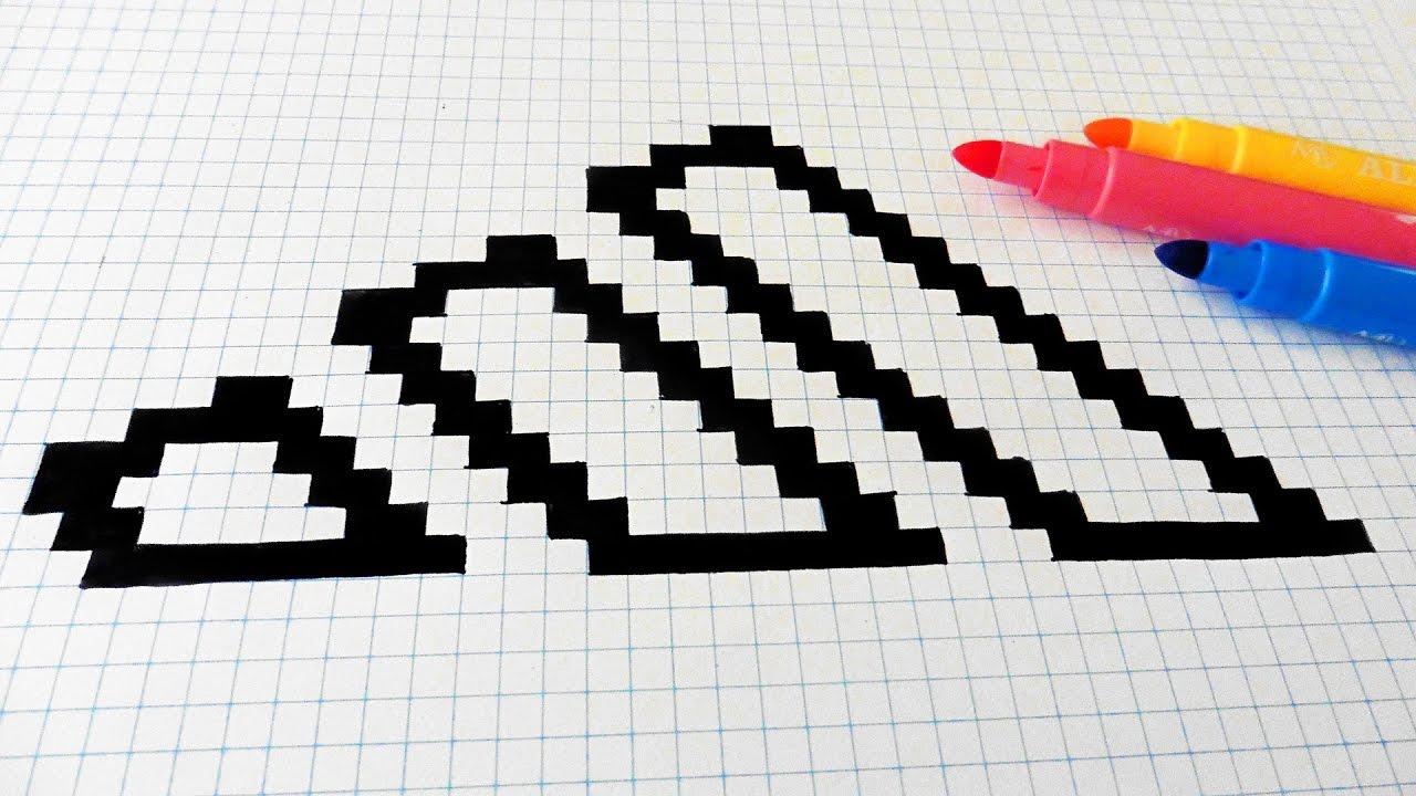 Handmade Pixel Art - How To Draw Adidas Logo #pixelart intérieur Modele Dessin Pixel