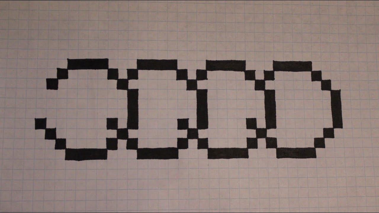 Handmade Pixel Art - How To Draw Audi Logo - dedans Voiture Pixel Art