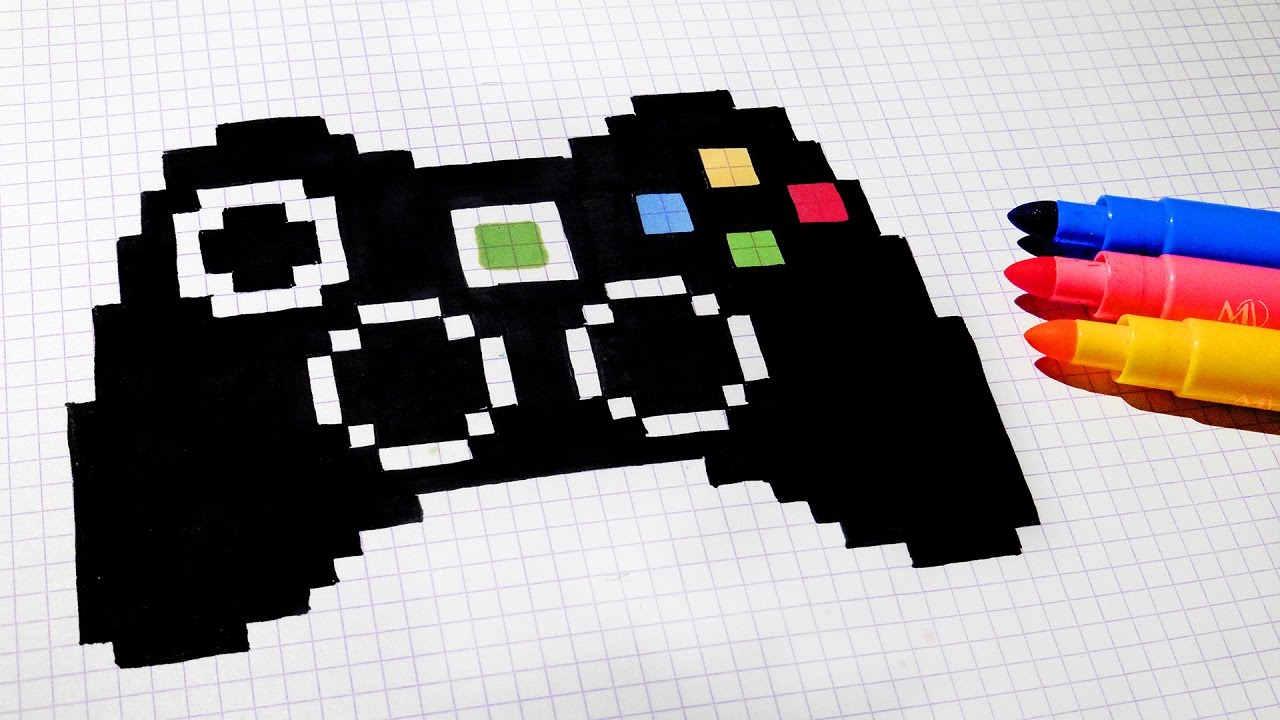 Handmade Pixel Art - How To Draw Game Controller #pixelart intérieur Jeux Dessin Pixel
