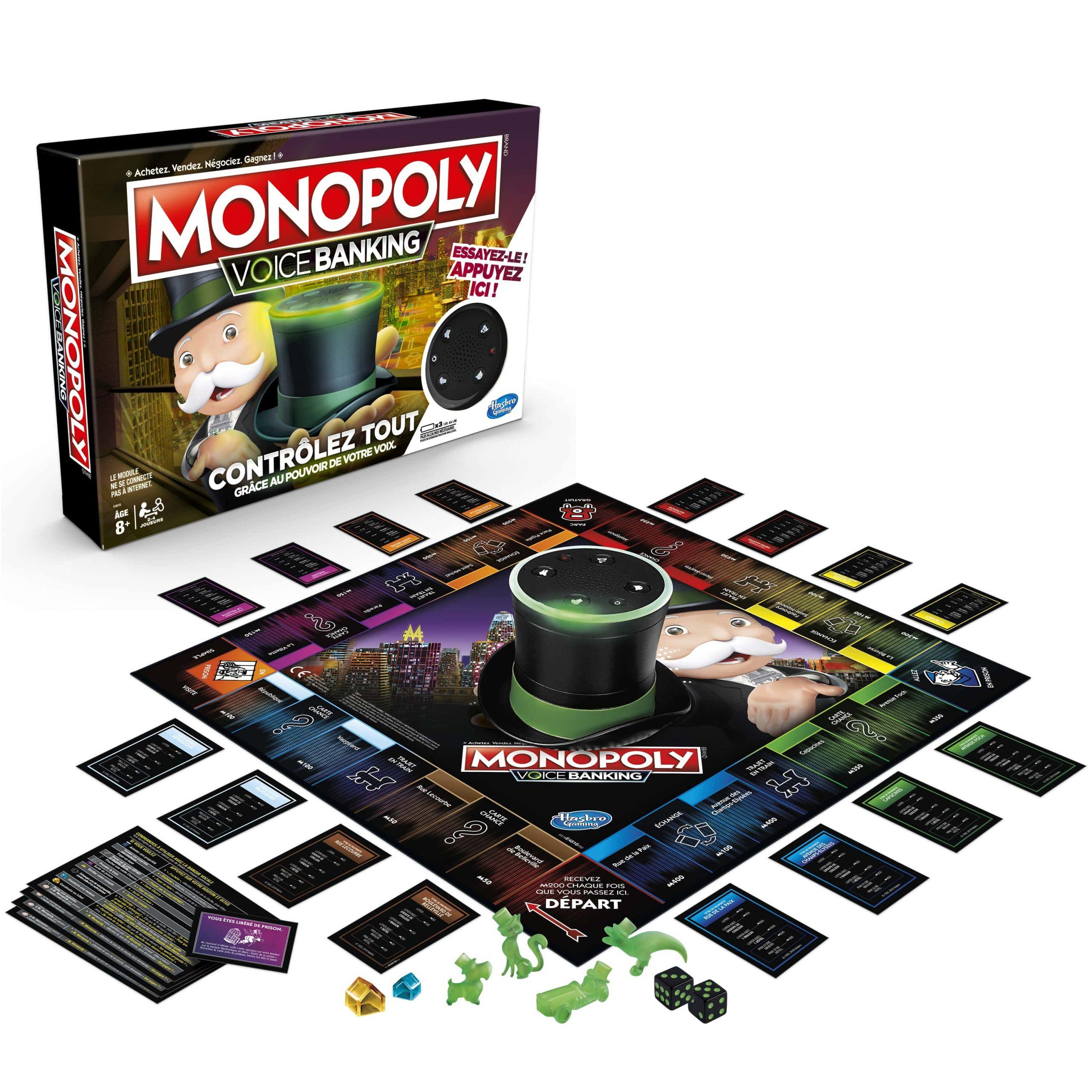 Hasbro Dévoile Le Monopoly Voice Banking, Le Premier pour Jeux Societe Interactif