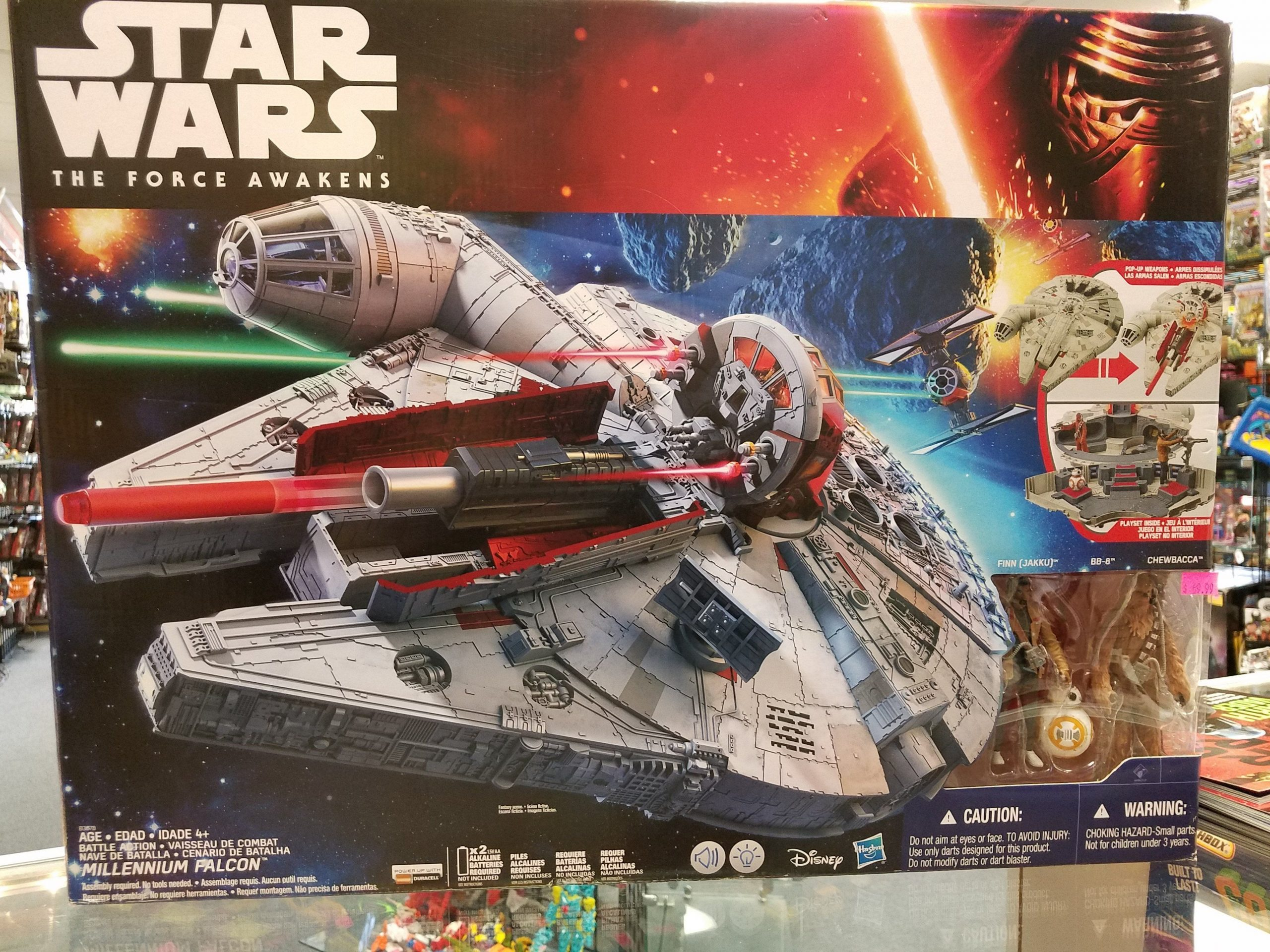 Hasbro Star Wars The Force Awakens, Millennium Falcon W destiné Jeu Force 4