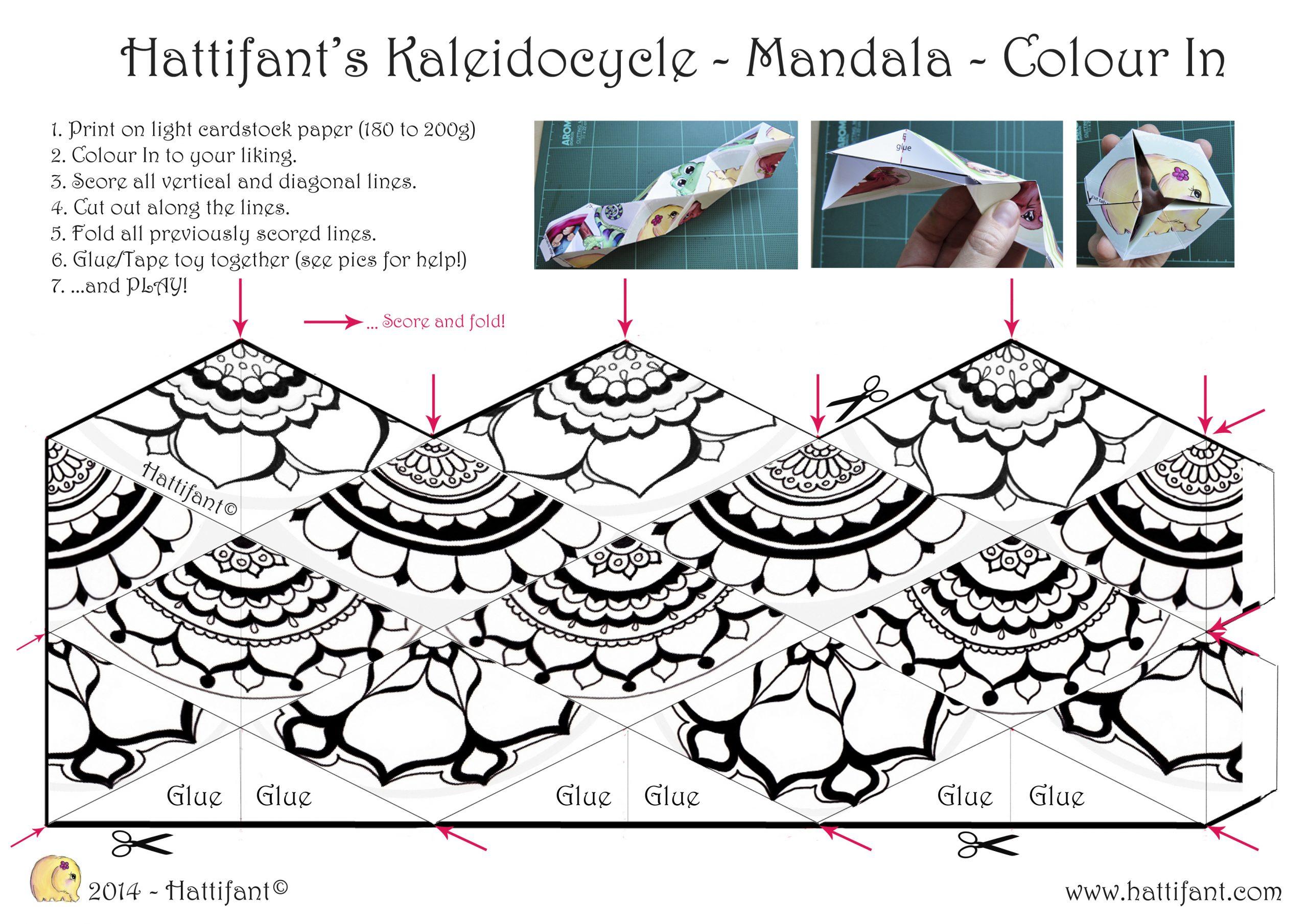 Hattifant's Kaleidocycle - Hattifant tout Paper Toy A Imprimer