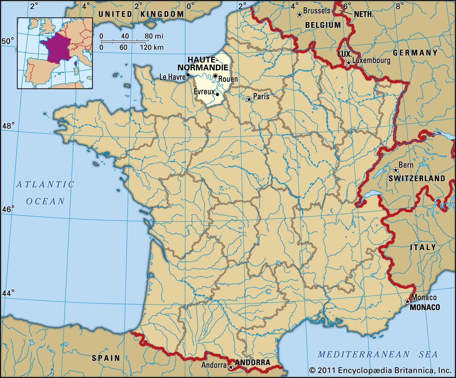 Haute-Normandie | History, Culture, Geography, & Map tout Région Et Département France