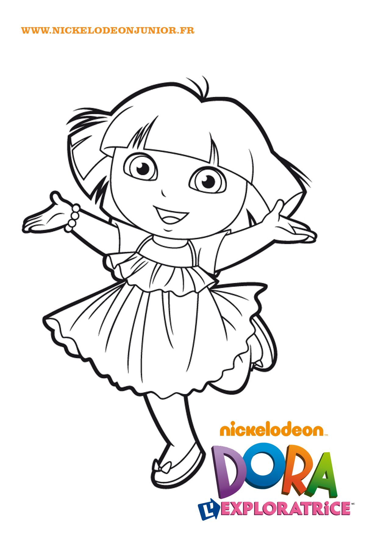 Hello I'm Dora dedans Coloriage Dora Princesse