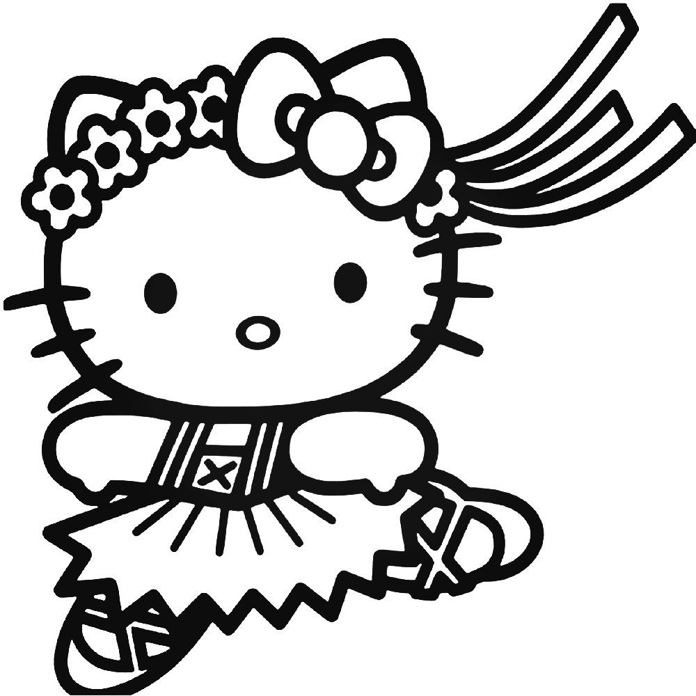 Hello Kitty 23 Decal Sticker Ballzbeatz . Com | Hello Kitty à Hello Kitty À Dessiner