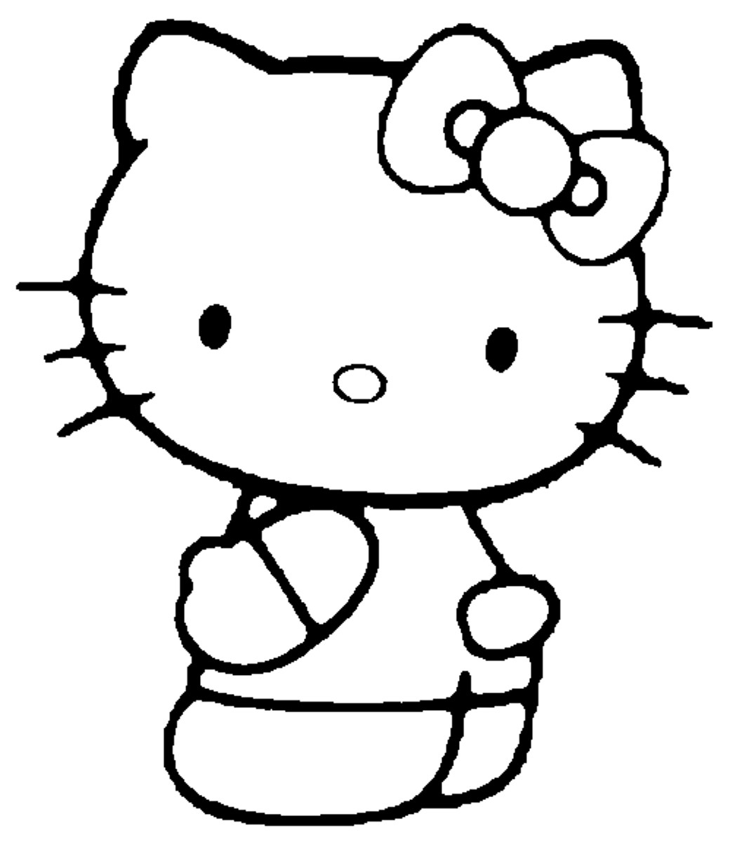 Hello Kitty #46 (Dessins Animés) – Coloriages À Imprimer tout Hello Kitty À Dessiner