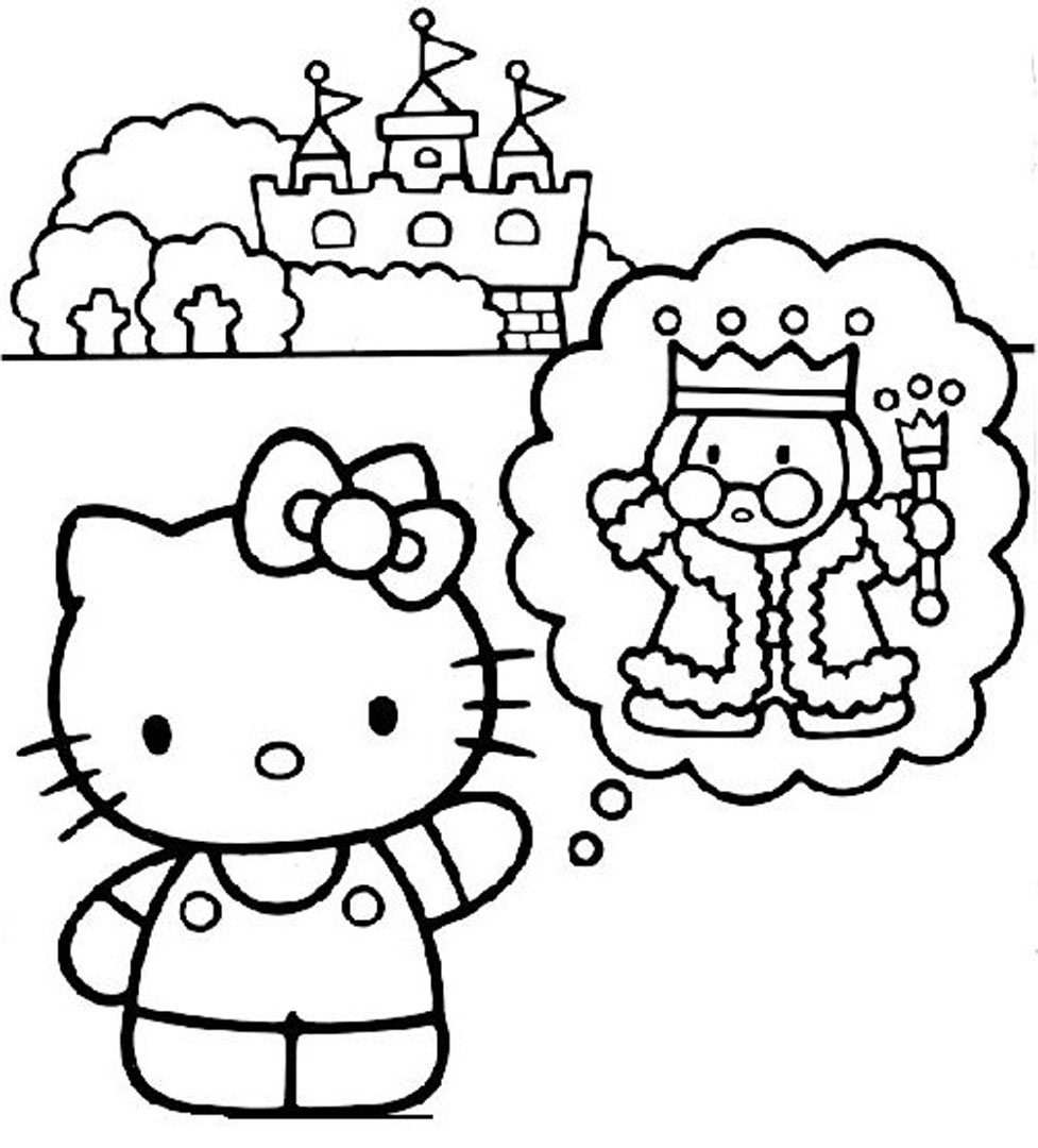 Hello Kitty #81 (Cartoons) – Printable Coloring Pages intérieur Hello Kitty À Dessiner