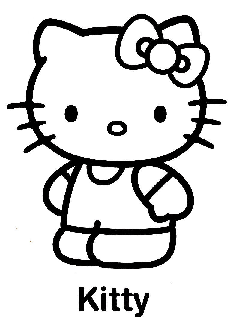 Hello Kitty #91 (Dessins Animés) – Coloriages À Imprimer serapportantà Hello Kitty À Dessiner