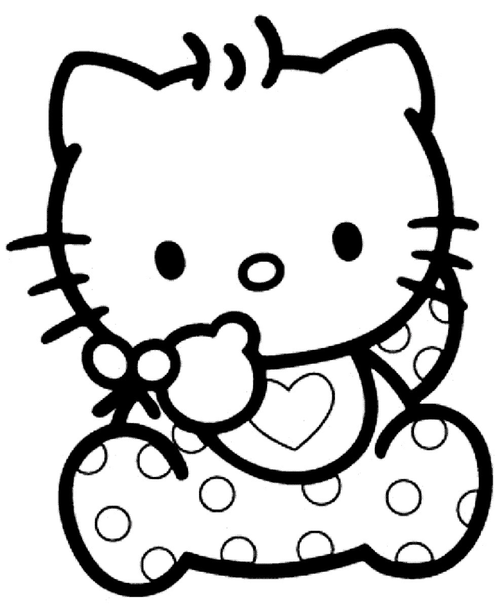 Hello Kitty Bébé : Coloriage Bébé Hello Kitty À Imprimer serapportantà Hello Kitty À Dessiner