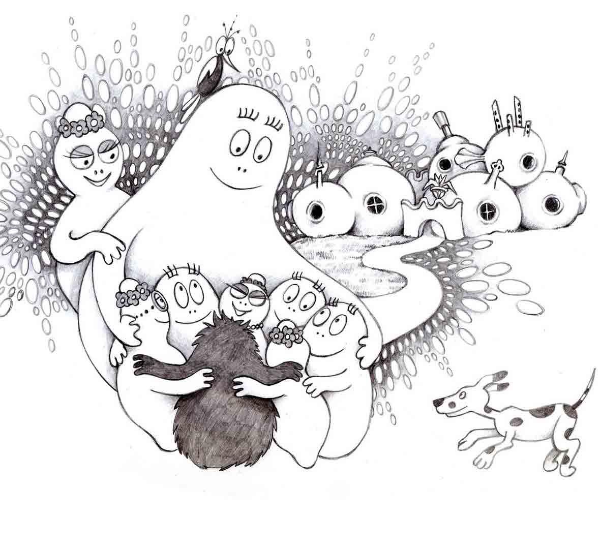 Hello Kitty destiné Coloriage Barbapapa À Imprimer Gratuit