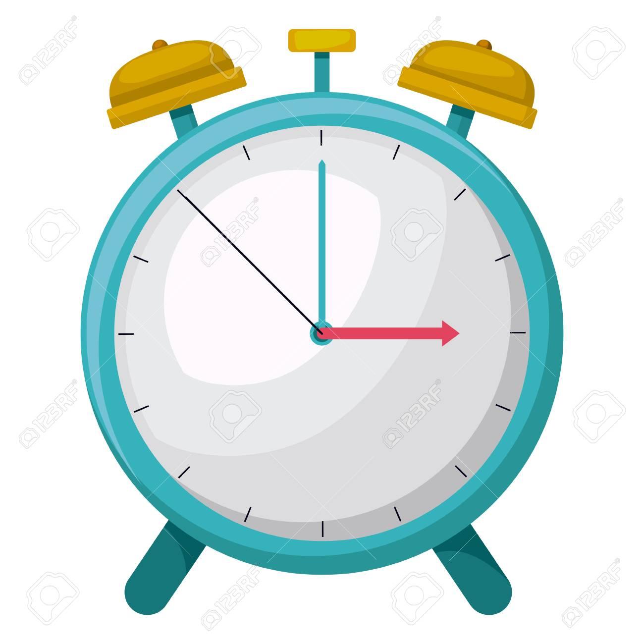 Heure De L'alarme D'horloge Dessin Isolé Conception Icône Vecteur  Illustration destiné Dessin D Horloge