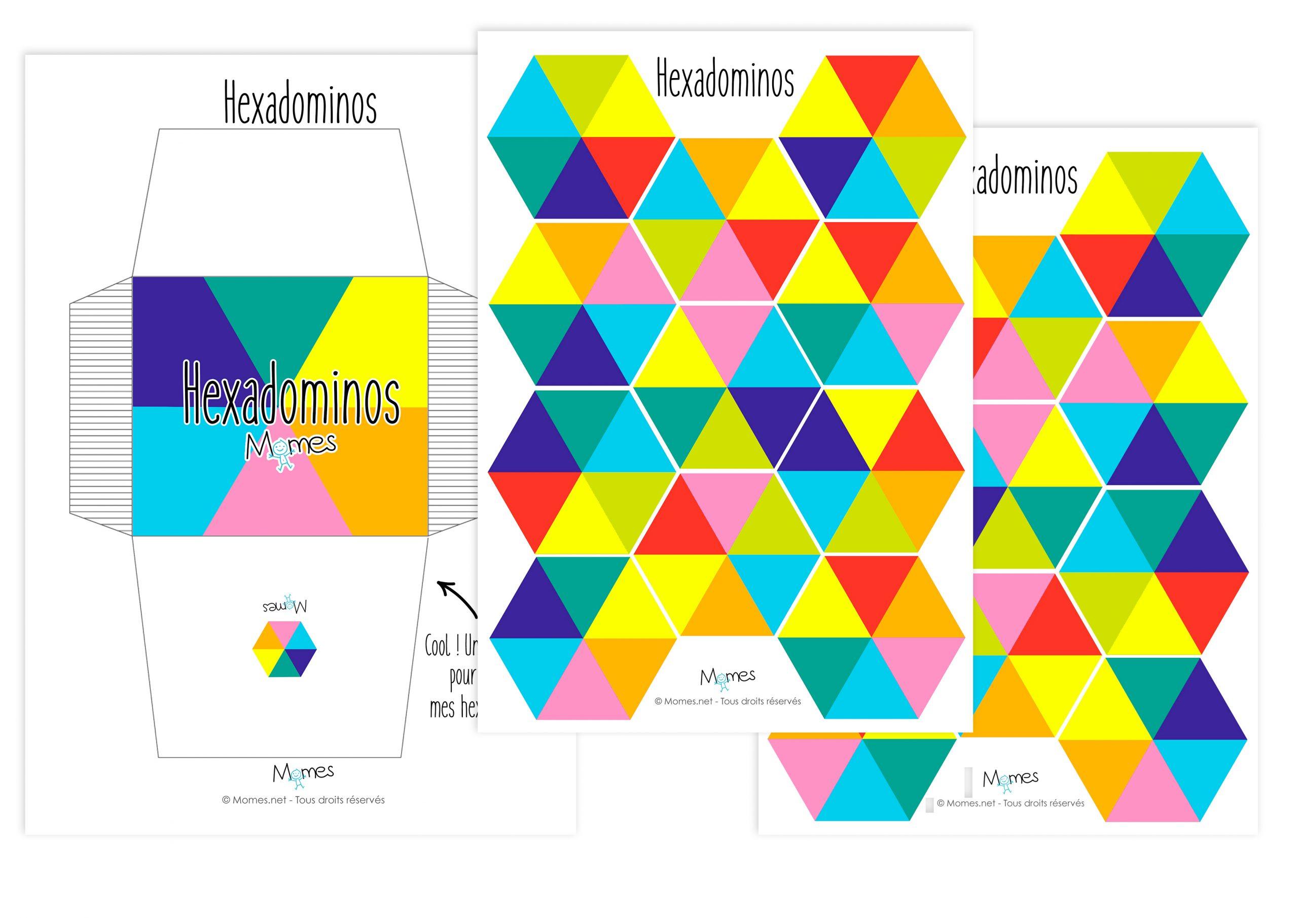 Hexadominos : Les Dominos À 6 Côtés - Momes intérieur Dominos À Imprimer