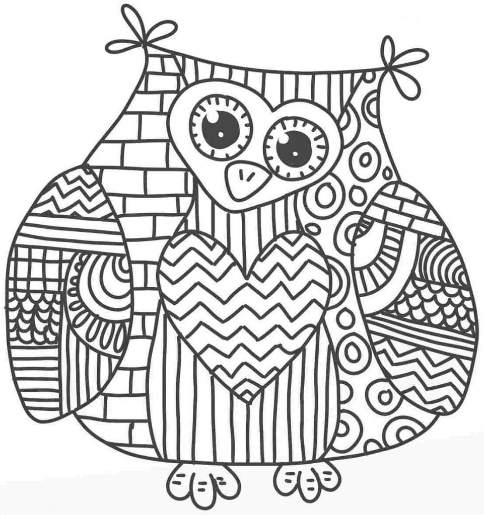 Hibou #127 (Animaux) – Coloriages À Imprimer pour Hibou A Imprimer