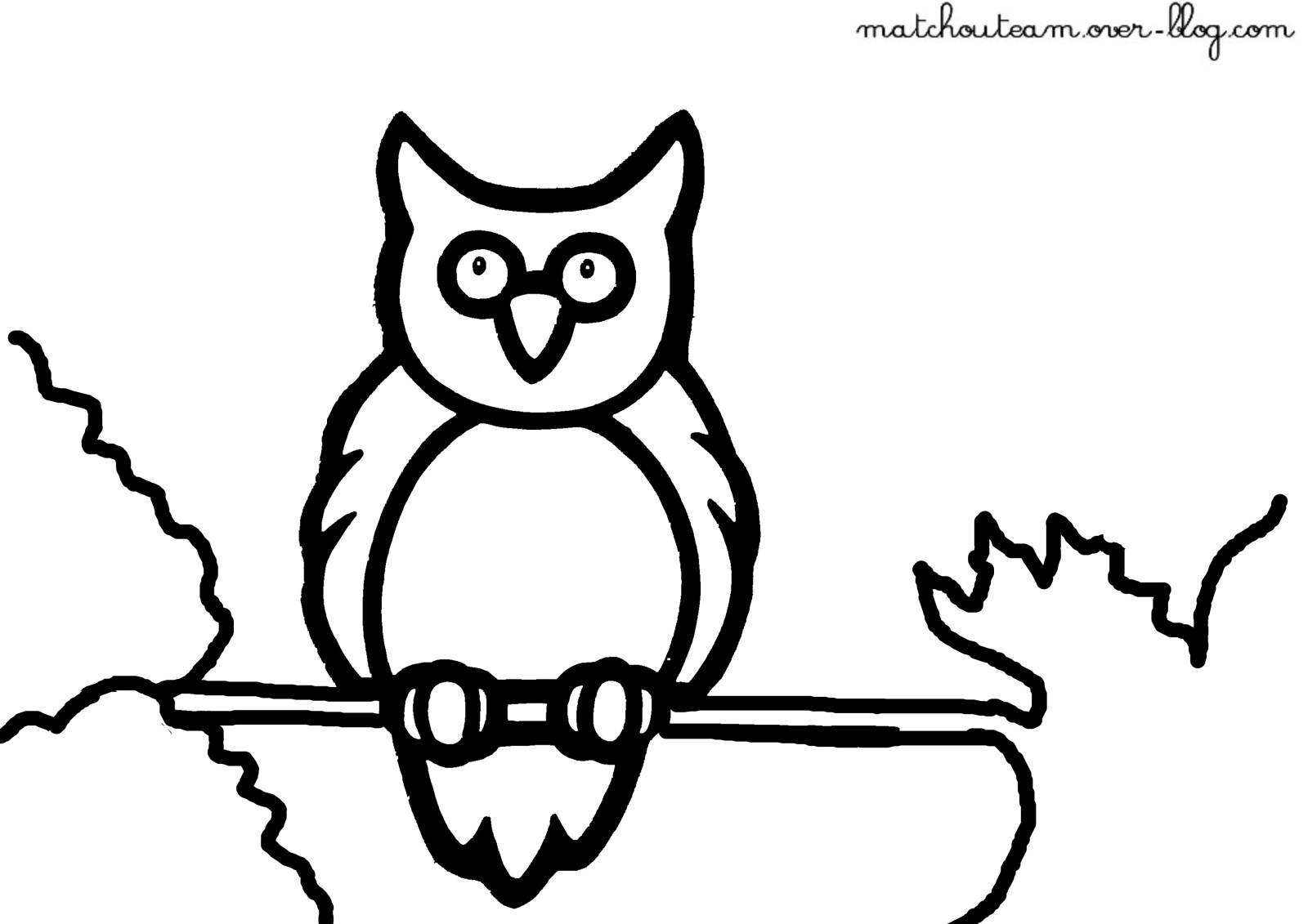 Hibou #131 (Animaux) – Coloriages À Imprimer à Dessiner Un Hibou
