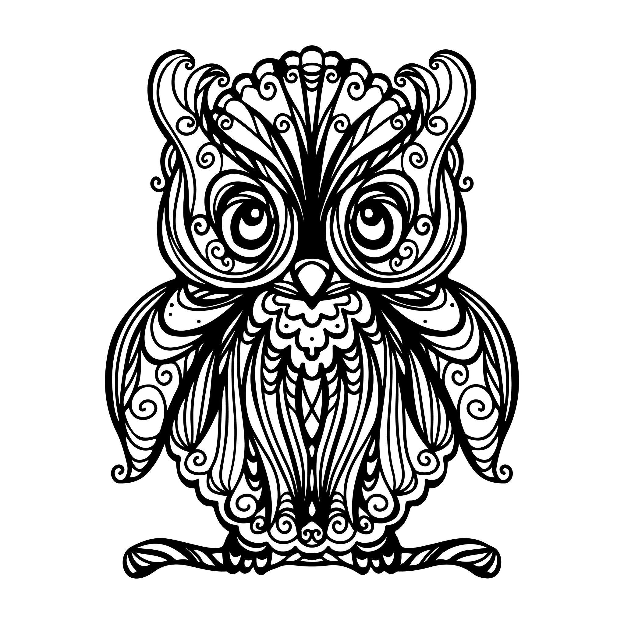 Hibou #14 (Animaux) – Coloriages À Imprimer à Hibou A Imprimer