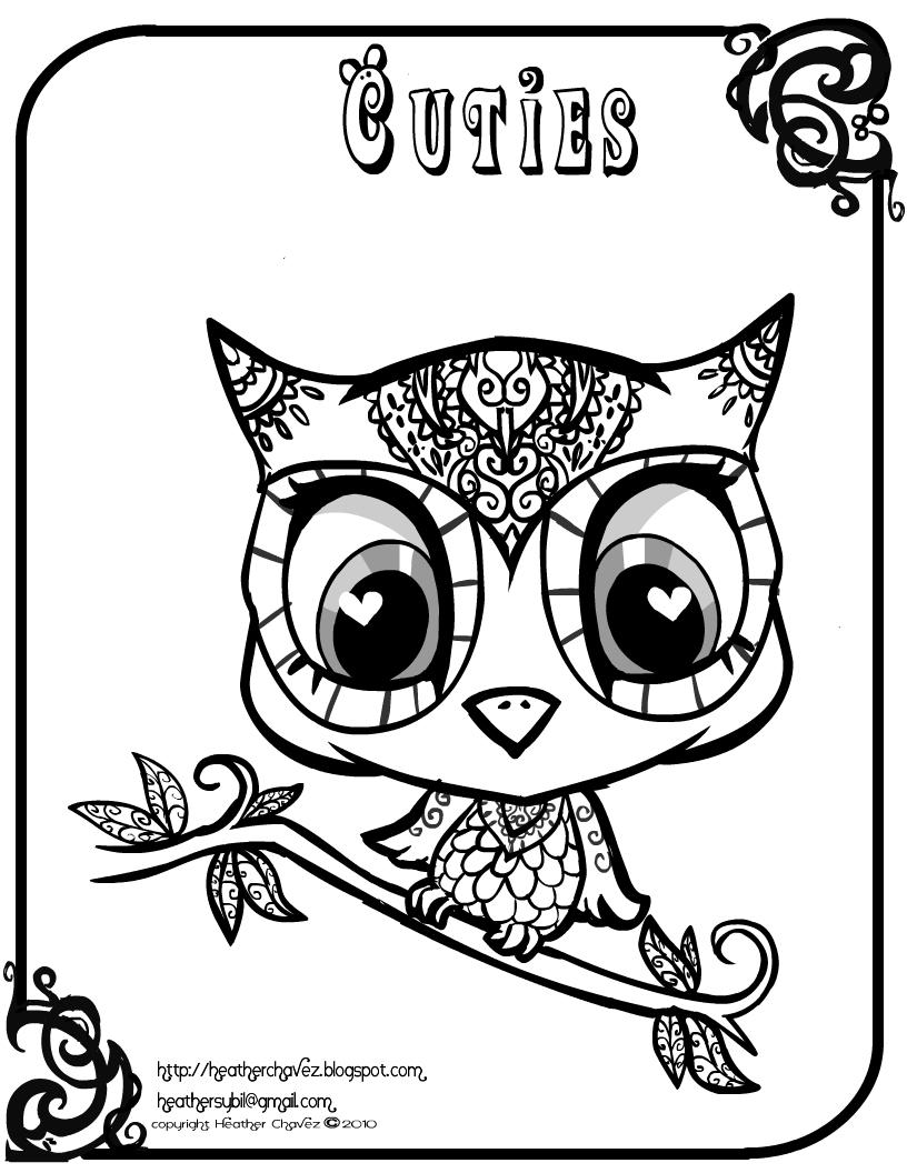 Hibou #28 (Animaux) – Coloriages À Imprimer dedans Hibou A Imprimer