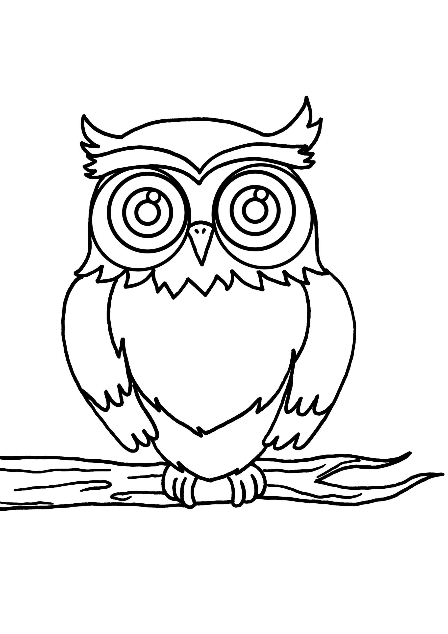 Hibou #60 (Animaux) – Coloriages À Imprimer dedans Dessiner Un Hibou