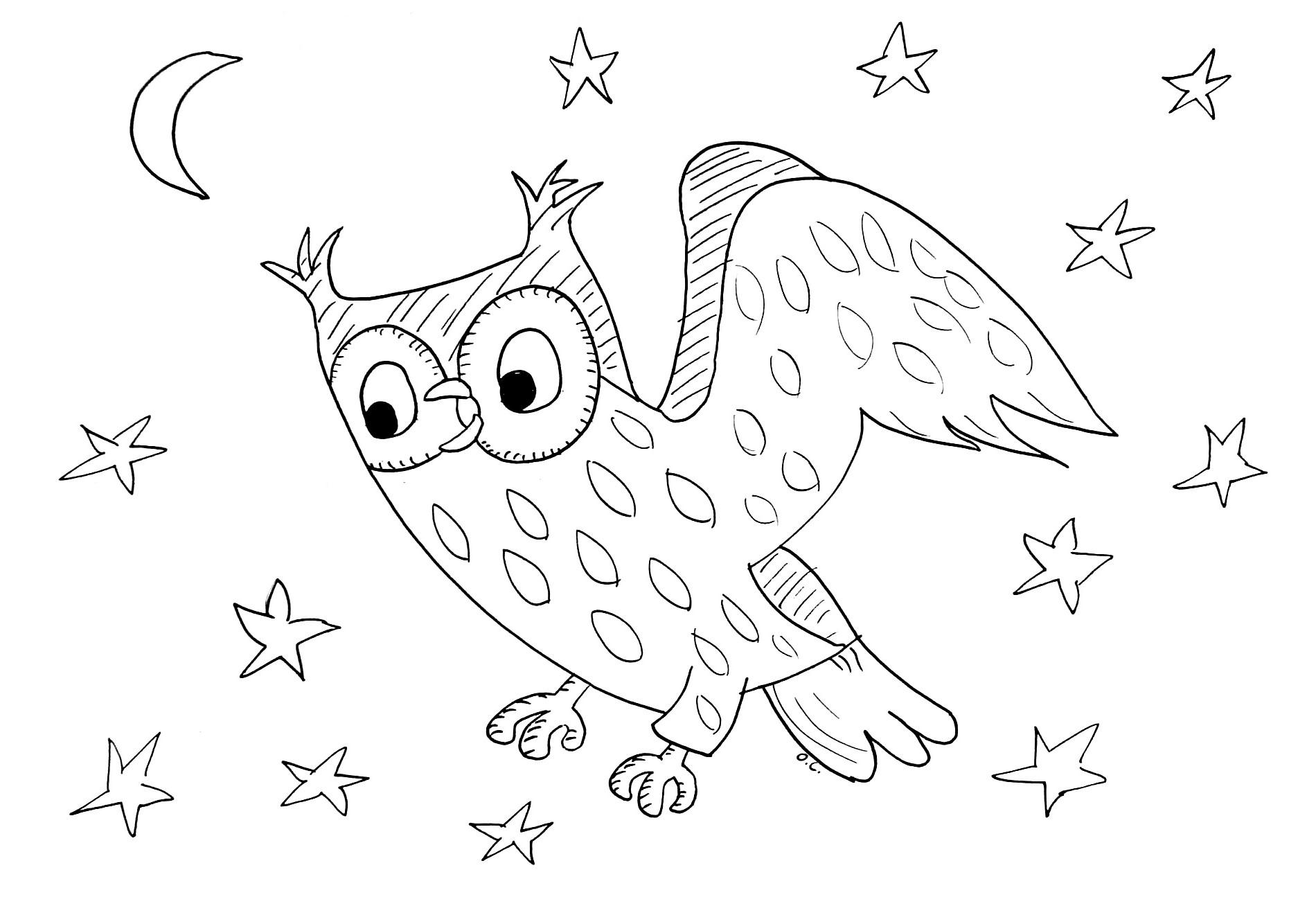 Hibou #61 (Animaux) – Coloriages À Imprimer destiné Hibou A Imprimer
