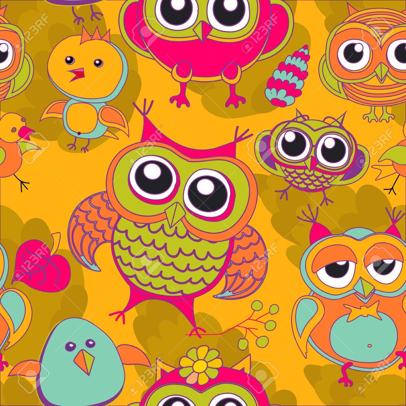 Hibou, Oiseau, Rose, Arbre, Animal, Feuille, Dessin, Illustration, Couleur,  Branche, Vecteur, Art, Vert, Résumé, Fleur, Fond, tout Hibou Dessin Couleur