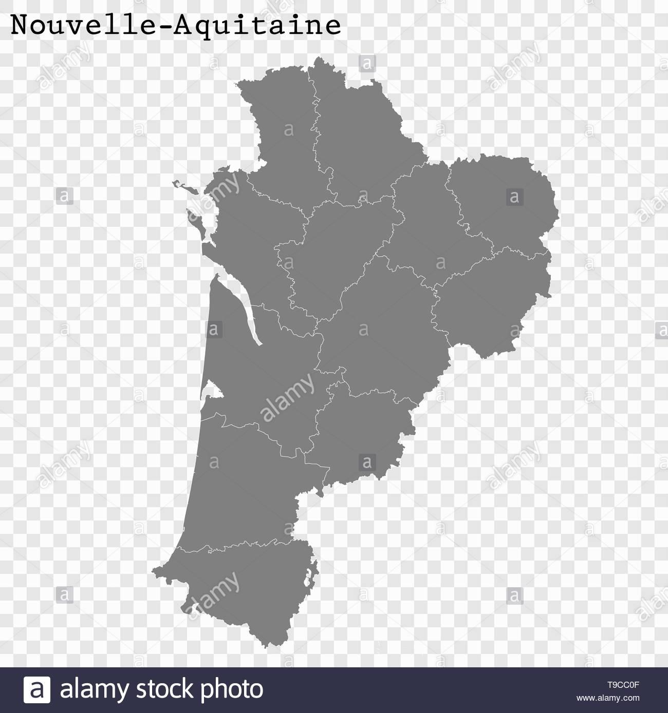 High Quality Map Of Nouvelle-Aquitaine Is A Region Of France à Carte De France Nouvelle Region