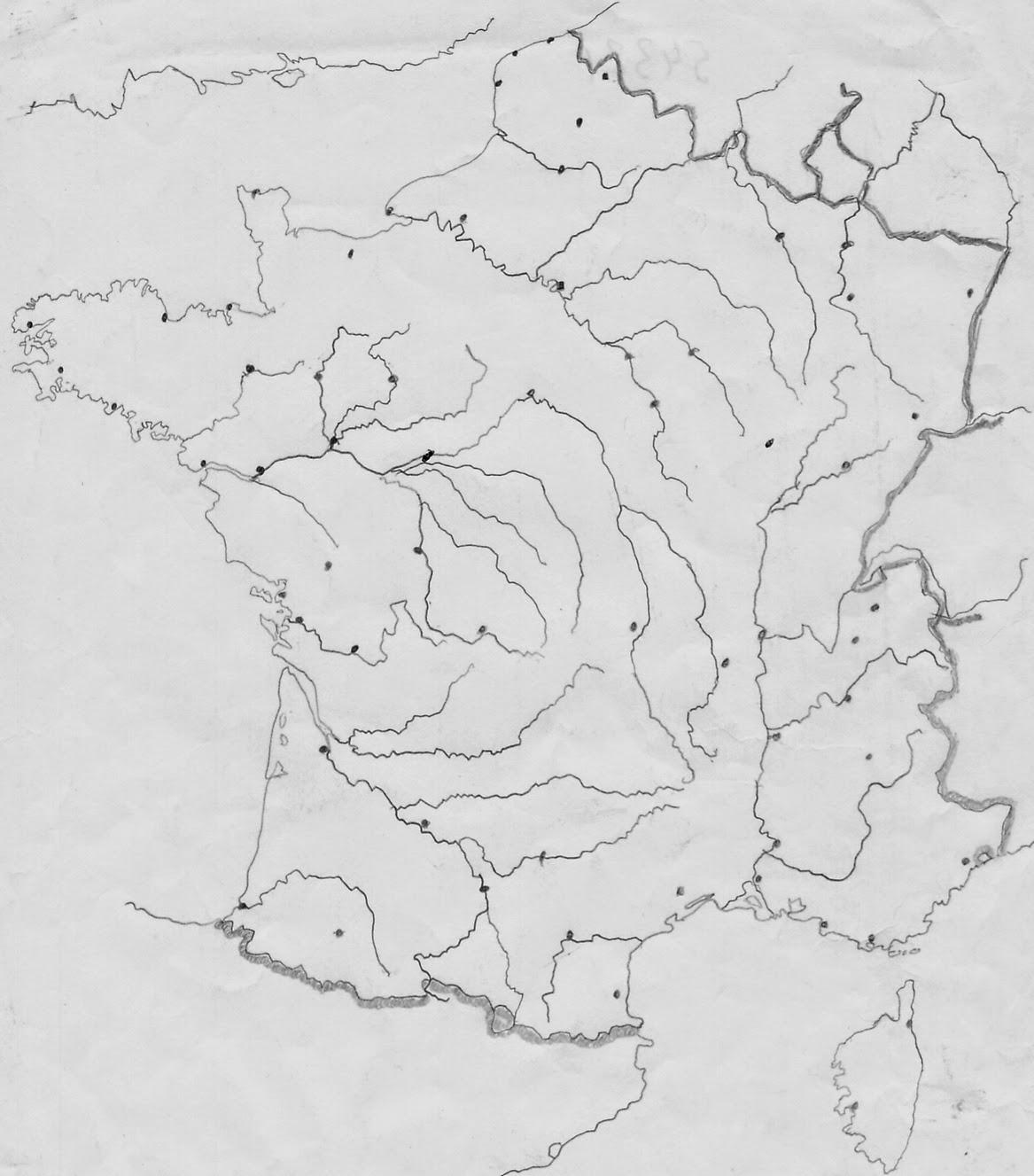 Histoire Géographie De St-Denis - Cours Et Documents: Carte destiné Carte France Vierge Villes