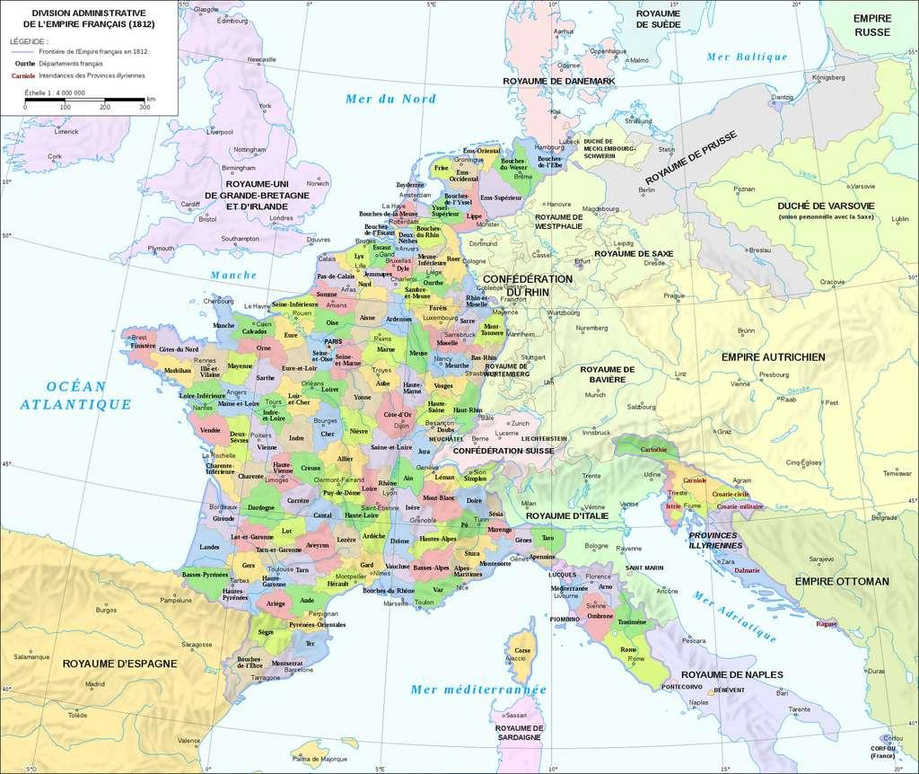 Histoire : La Création Des Départements Français À La Révolution avec Carte De France Avec Départements Et Préfectures