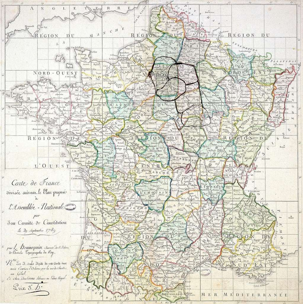 Histoire : La Création Des Départements Français À La Révolution avec Les Nouvelles Régions De France Et Leurs Départements