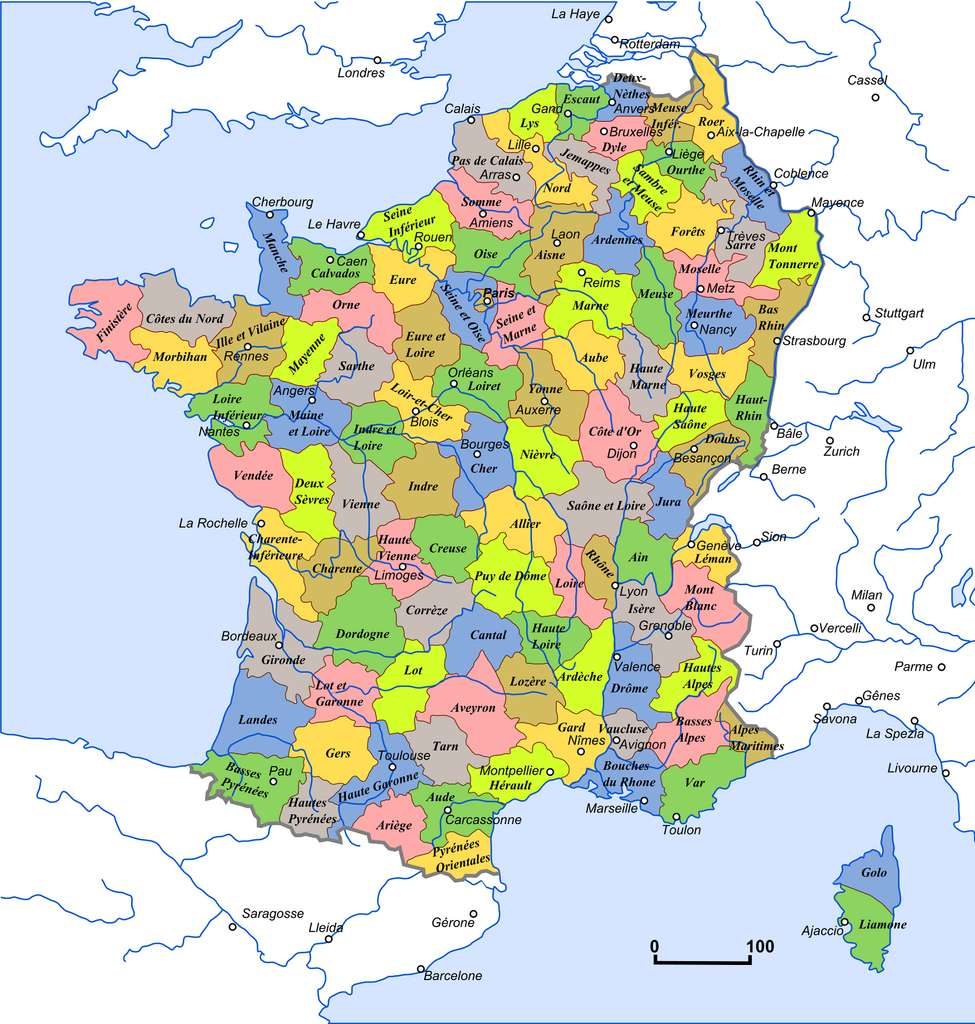 Histoire : La Création Des Départements Français À La Révolution dedans Departement Francais Carte