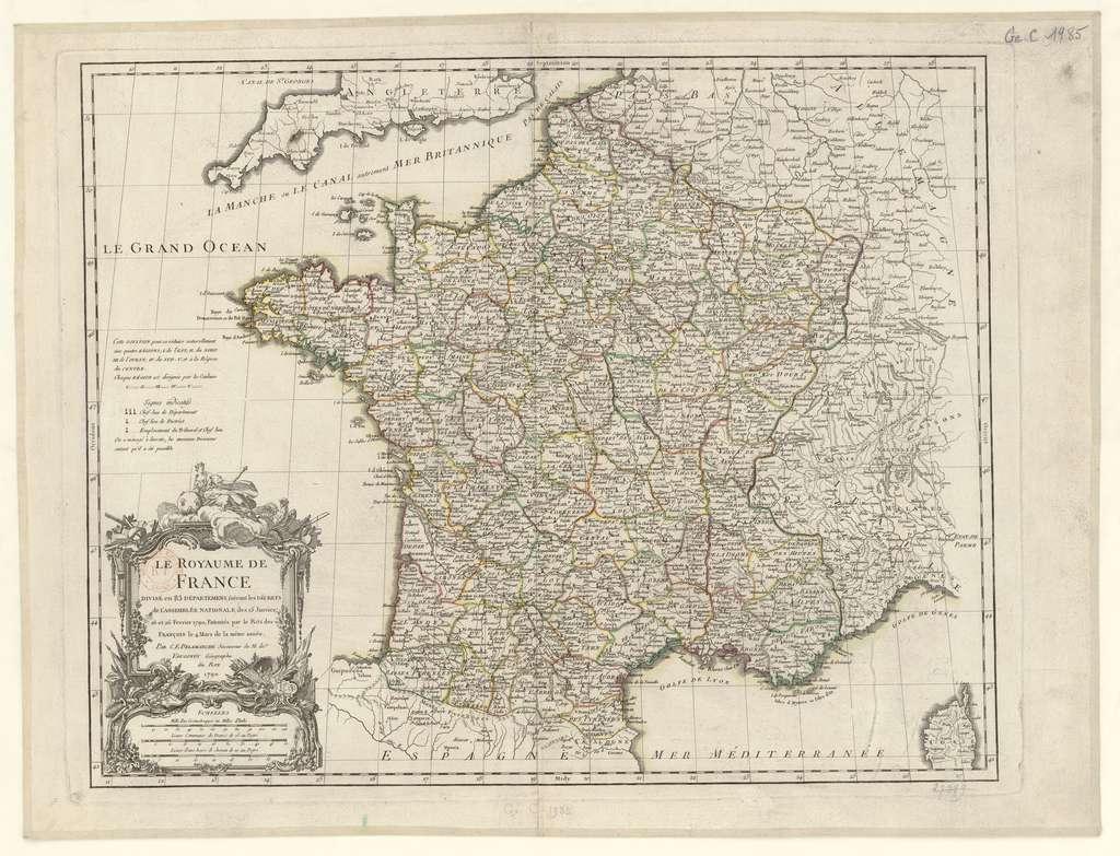 Histoire : La Création Des Départements Français À La Révolution destiné Departement Francais Carte