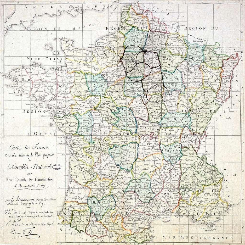 Histoire : La Création Des Départements Français À La Révolution encequiconcerne Plan De La France Par Departement