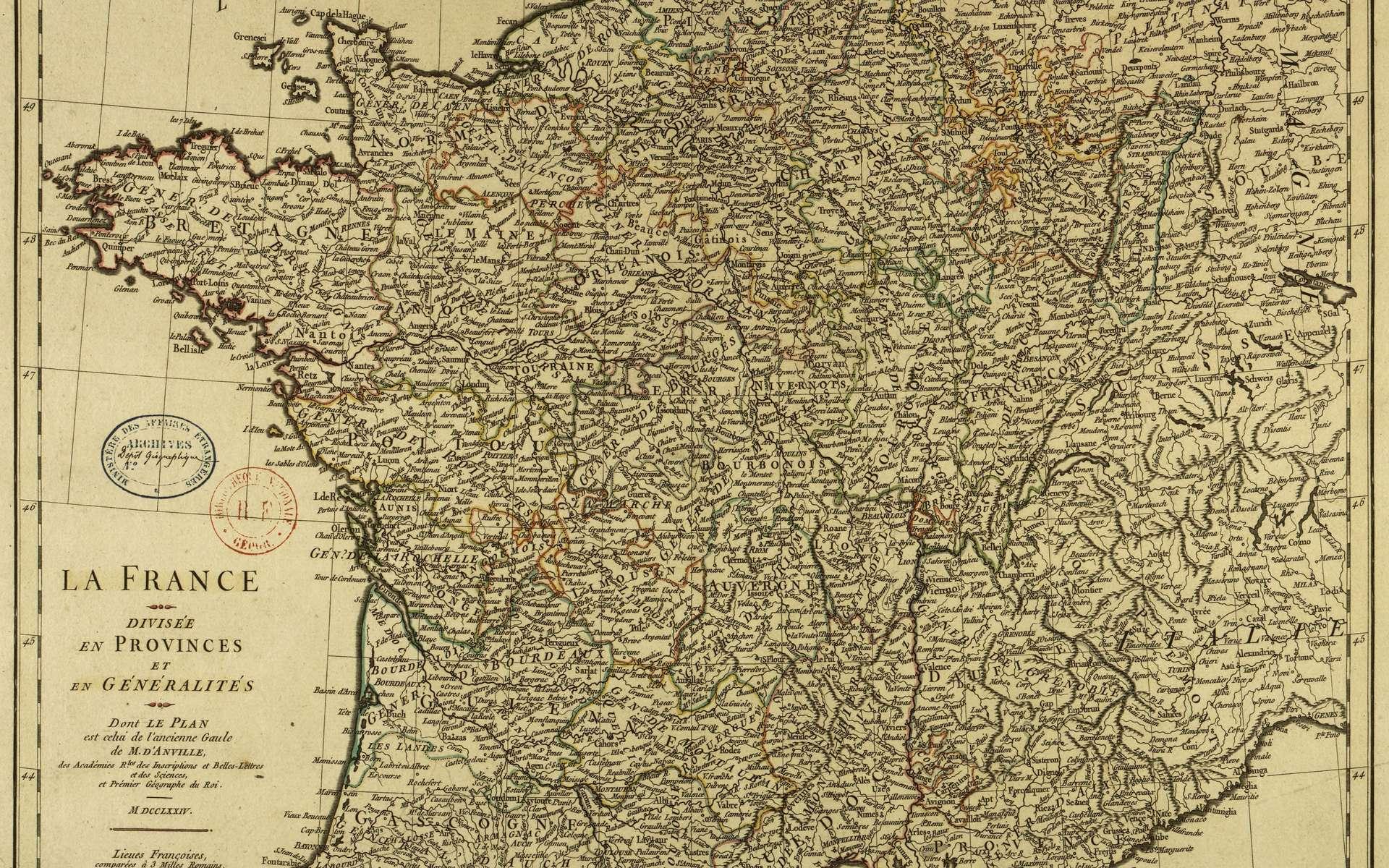 Histoire : La Création Des Départements Français À La Révolution intérieur Carte Departements Francais