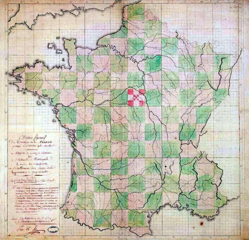 Histoire : La Création Des Départements Français À La Révolution tout Carte Departements Francais