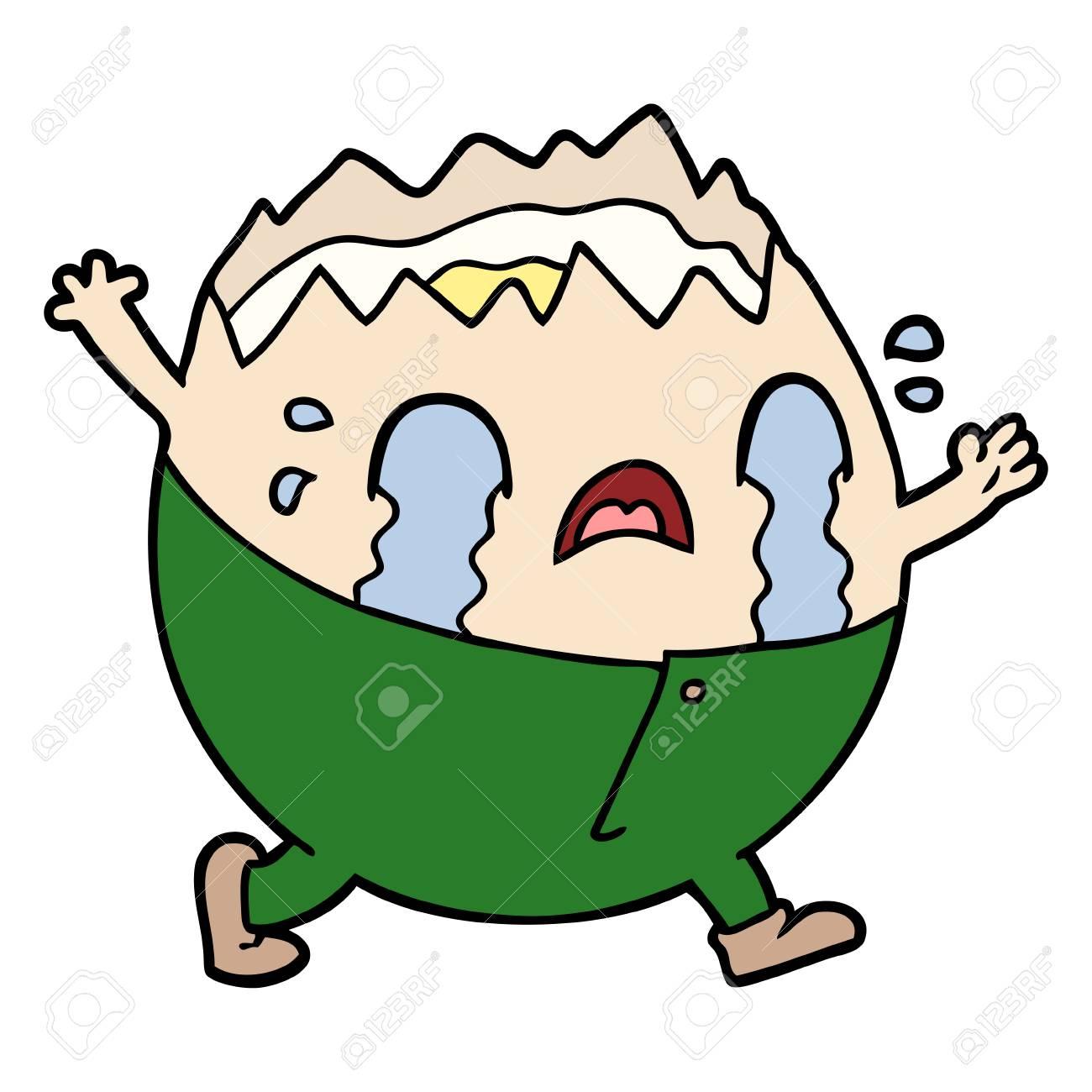 Homme D'oeuf De Dessin Animé Humble Dumpty Pleurer destiné Dessin D Oeuf