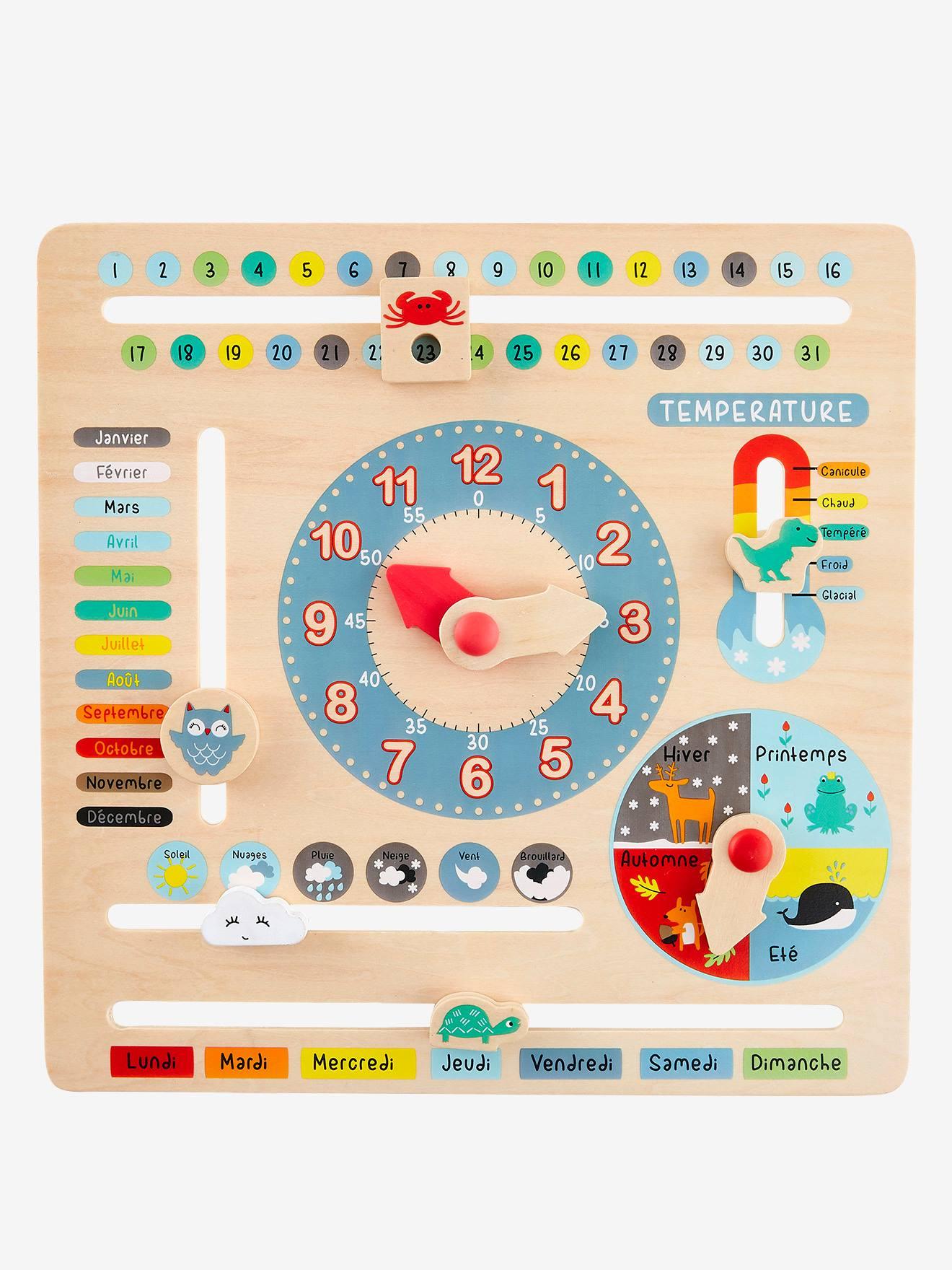 Horloge Calendrier En Bois Multicolore - Vertbaudet destiné Calendrier Ludique À Imprimer