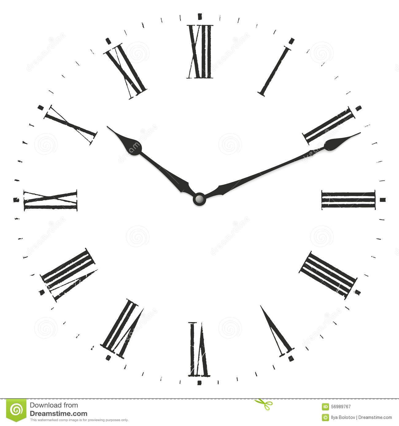 Horloge De Chiffre Romain Illustration De Vecteur à Dessin Chiffre Romain