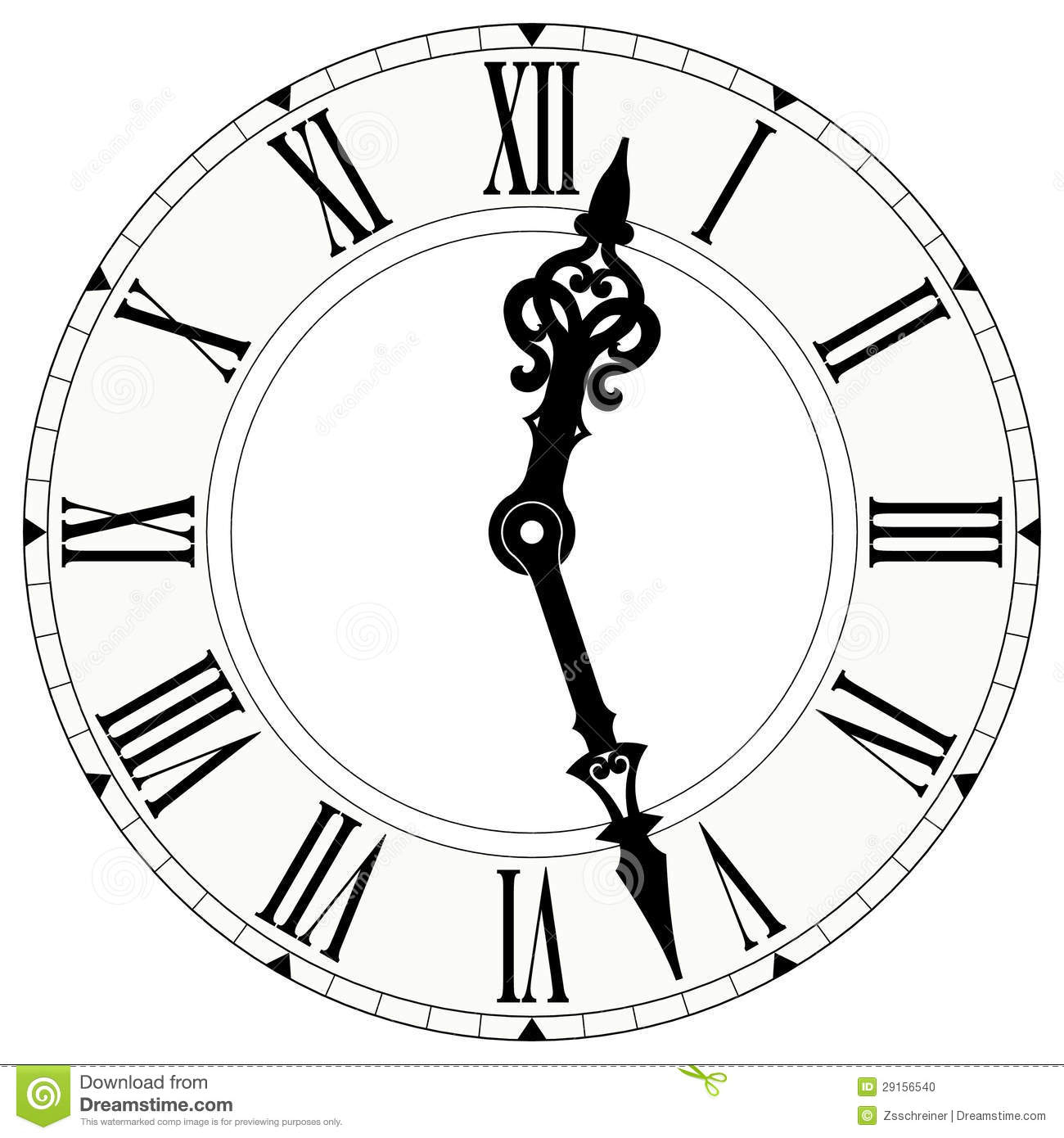 Horloge De Chiffre Romain Illustration Stock. Illustration concernant Dessin Chiffre Romain