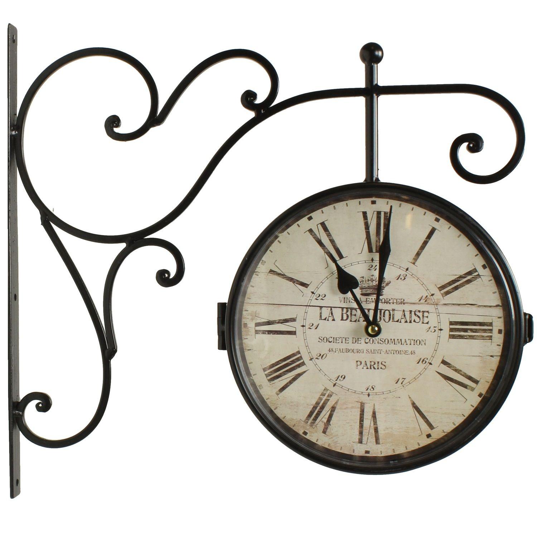 Horloge De Gare Ancienne Double Face La Beaujolaise 24Cm serapportantà Dessin D Horloge