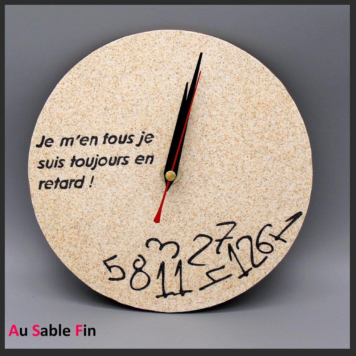 Horloge En Sable - En Retard! intérieur Dessin D Horloge