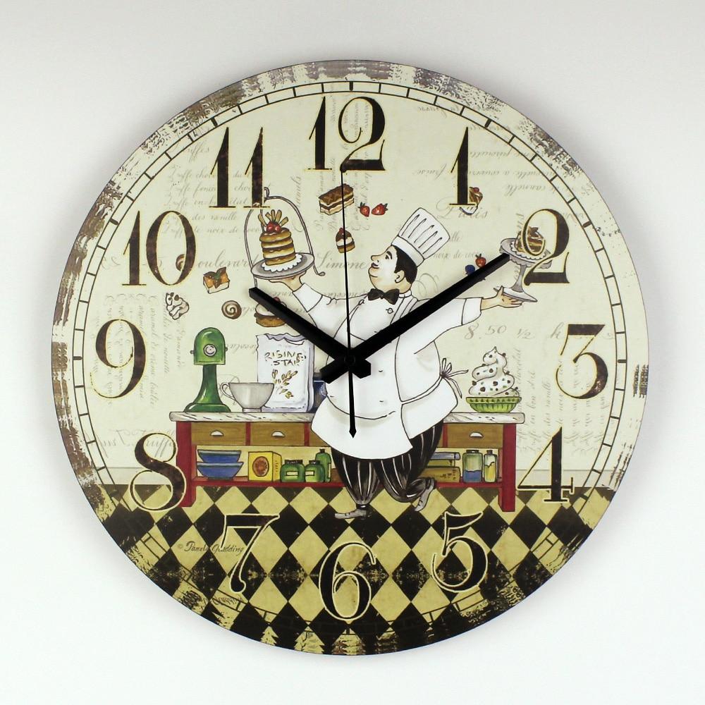 Horloge Murale De Cuisine Design Moderne Garantie 3 Ans Dessin Animé Salle  À Manger Décoration Murale Horloge Avec Mouvement D'horloge Silencieux encequiconcerne Dessin D Horloge