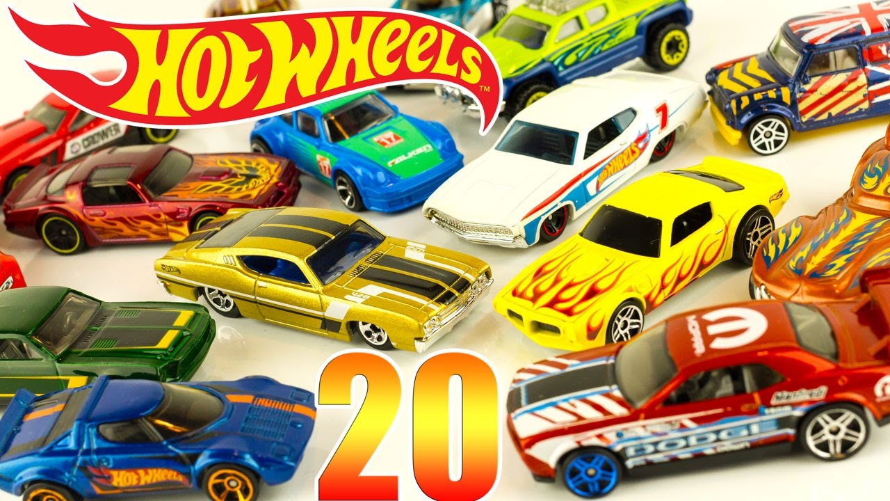 Hot Wheels Die Cast Cars 20 Pack Gift Set Toy Unboxing Review Juguetes tout Voiture Requin Jouet